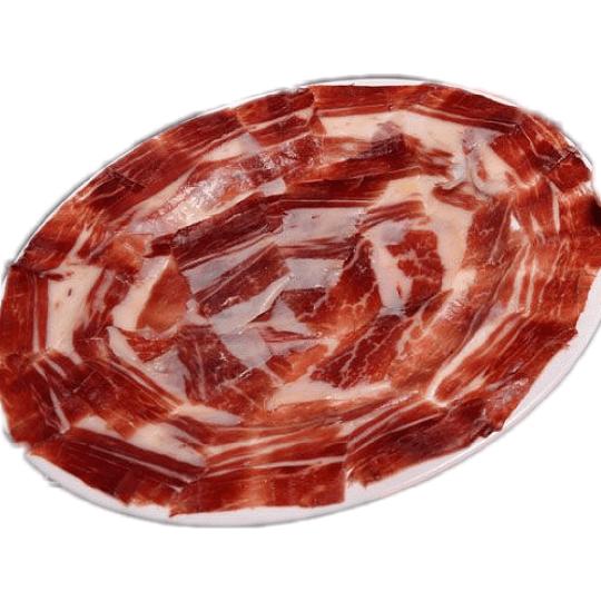 Hand carved iberico ham